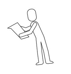 man reading pictogram icon vector image vector image