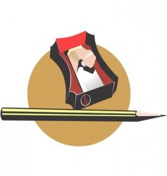 pencil sharpener vector image vector image
