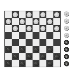 Checkers board game vector image vector image