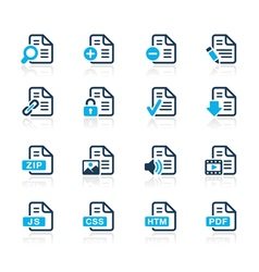 Documents Icons 1 Azure Series vector image vector image