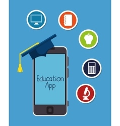 education online app smartphone design vector image