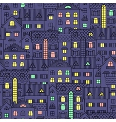 Night background with colored Windows vector image
