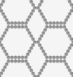 Perforated paper with hexagons forming hexagons vector image vector image