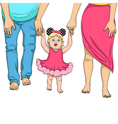 the first steps of the child support for parents vector image