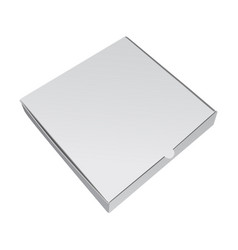 white packing box for pizza realistic 3d vector image