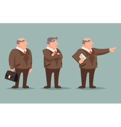 Adult Demonstration Businessman Big Boss Character vector image vector image