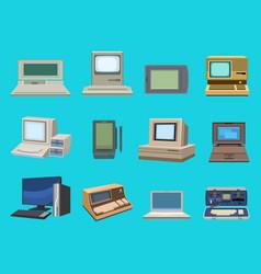 computer technology evolution display vector image