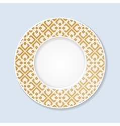 Decorative plate with abstract ornament vector image vector image