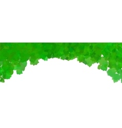 Green watercolor frame vector image vector image