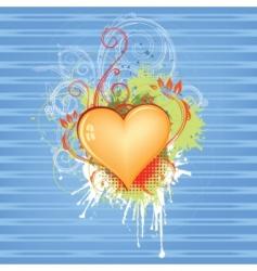 Valentine's grunge design vector image