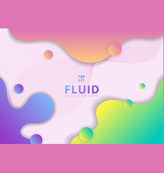 abstract colorful fluid flow shapes circles and vector image