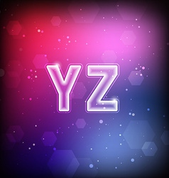 Abstract Font Y-Z vector