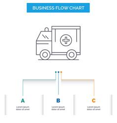 ambulance truck medical help van business flow vector image