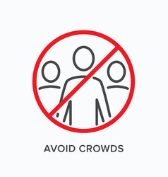 Avoid crowds line icon outline vector
