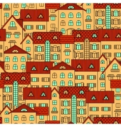 Background with yellow houses vector image
