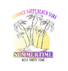 Best time for summer parties graphic vector