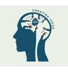 birth ideas in conceptual head vector image