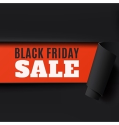 Black Friday torn abstract paper background vector image