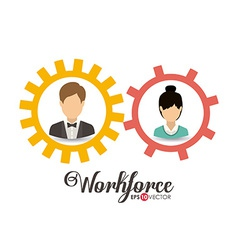 Business and Workforce design vector image