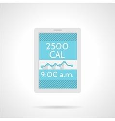 Calorie counter app flat color icon vector image