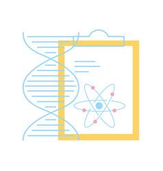 chemistry clipboard dna atom molecule structure vector image