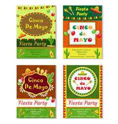 Cinco de mayo invitation template flyer mexican vector