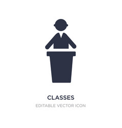 Classes icon on white background simple element vector