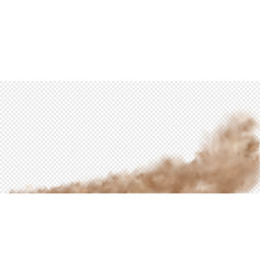 cloud road dust from car smoke trail from rapid vector image