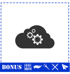 Cloud storage preferences icon flat vector
