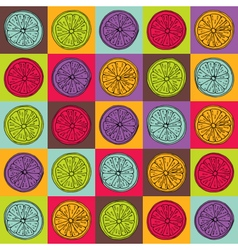colorful lemon pattern vector image