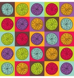 Colorful lemon pattern vector