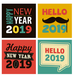 colorful new year 2019 celebration vector image