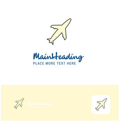 creative aeroplane logo design flat color logo vector image