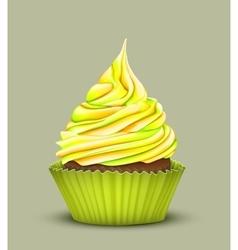 cupcake with multi-color crea vector image