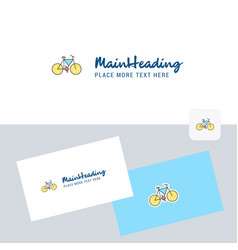 cycle logotype with business card template vector image