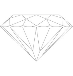 diamond icon on white background vector image