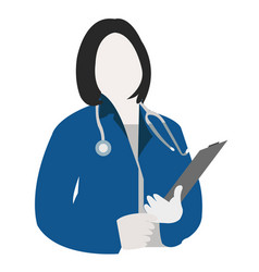 doctor avatar icon medical health specialist avat vector image