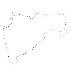 dotted stroke maharashtra state map vector image