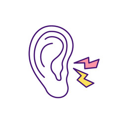 Ear infection rgb color icon vector