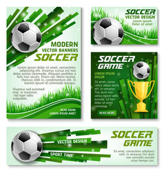 Football cup soccer team banner posters vector