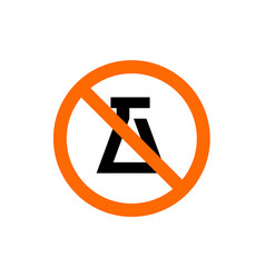 forbidden experiment sign prohibition symbol vector image