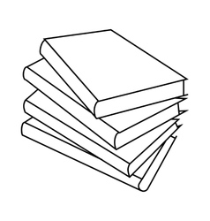 Four books icon outline style vector image