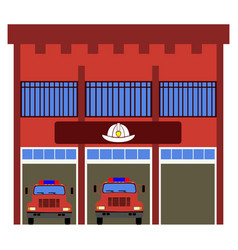 Front view of a fire station vector