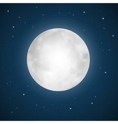 full moon with stars vector image