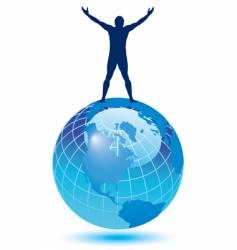 globe man vector image
