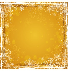 golden grunge christmas background vector image