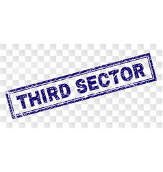 grunge third sector rectangle stamp vector image