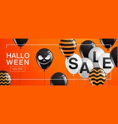 halloween banner ghost scary spooky air vector image