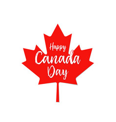 Happy canada day leaf vector