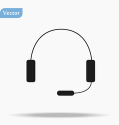 Headphone isolated flat web mobile icon vector